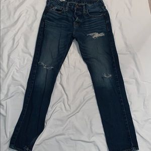 Hollister distressed button-fly skinny jeans 31x30